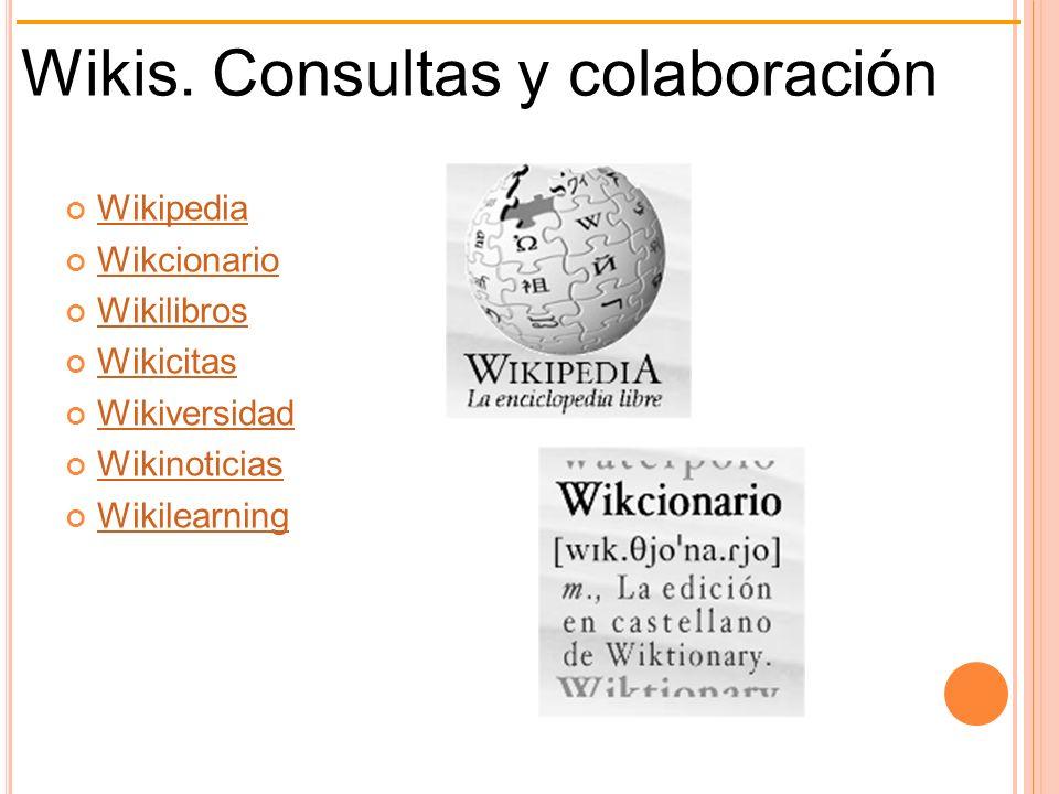 Wikis. Consultas y colaboración