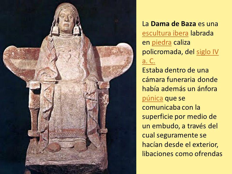 La Dama de Baza es una escultura ibera labrada en piedra caliza policromada, del siglo IV a. C.