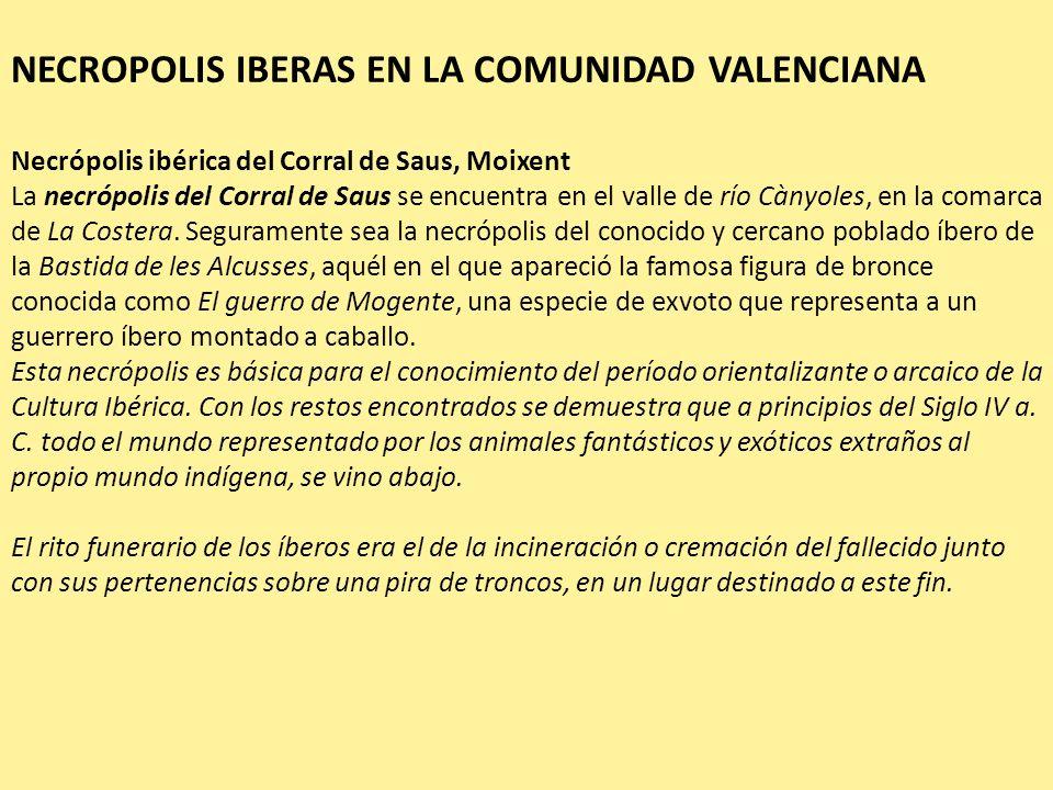 NECROPOLIS IBERAS EN LA COMUNIDAD VALENCIANA