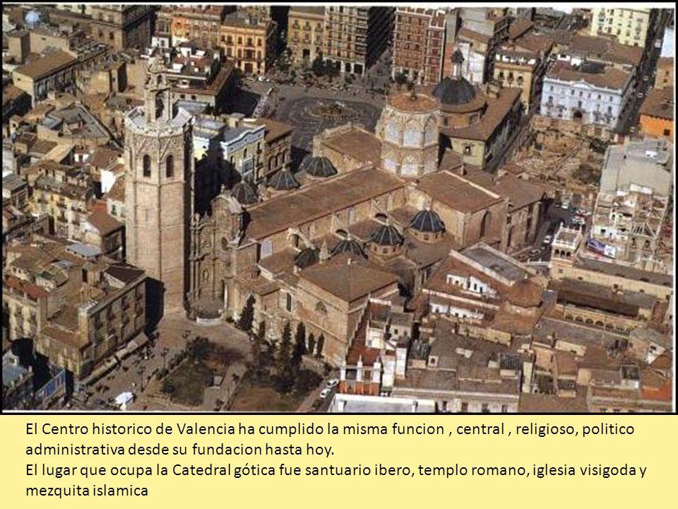 El Centro historico de Valencia ha cumplido la misma funcion , central , religioso, politico administrativa desde su fundacion hasta hoy.