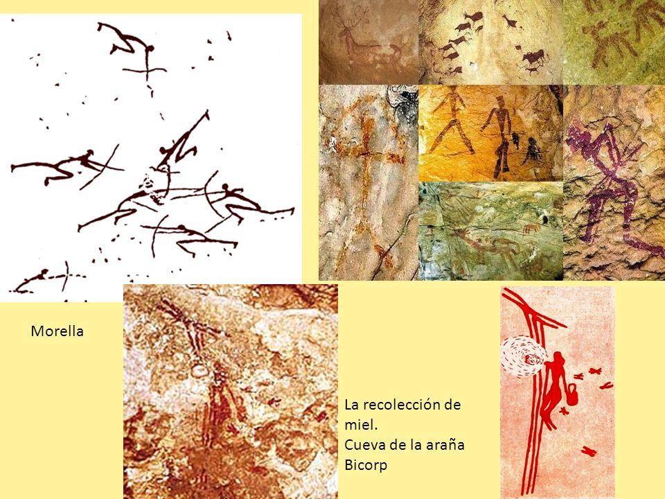 Morella La recolección de miel. Cueva de la araña Bicorp
