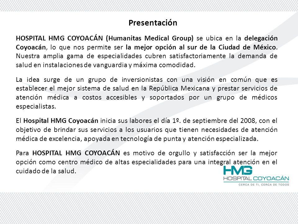 HOSPITAL HMG COYOACÁN HOSPITAL CERTIFICADO CURRICULUM VITAE. - ppt ...