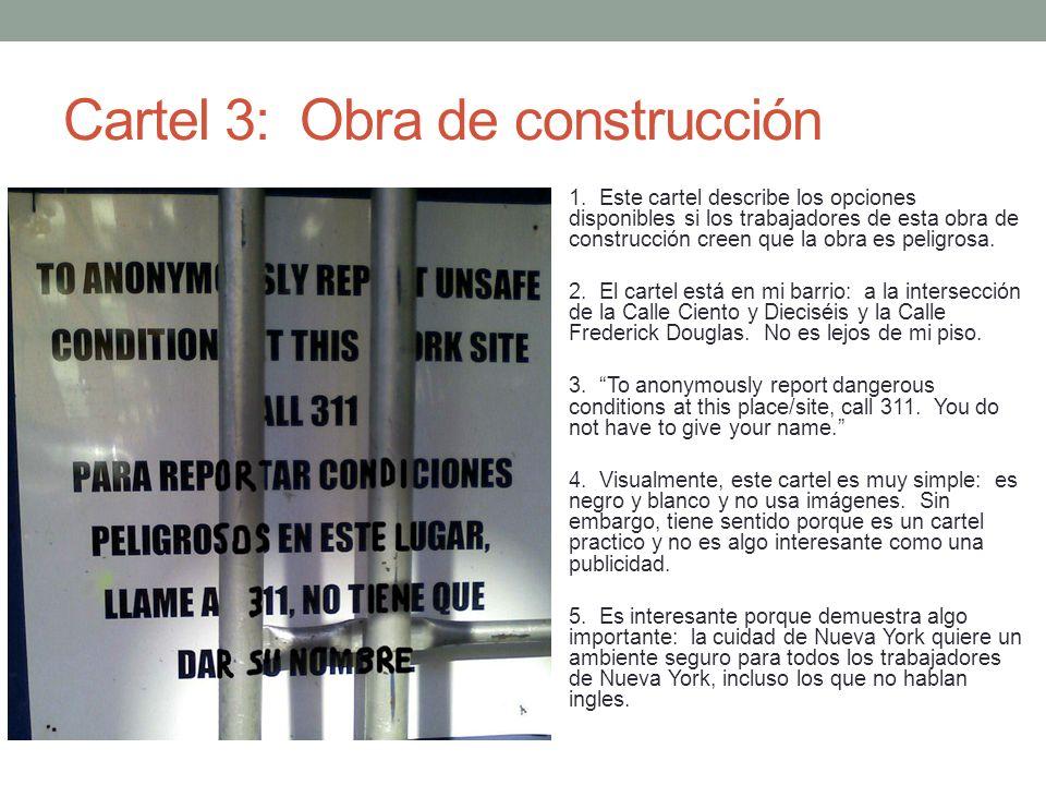 Cartel 3: Obra de construcción