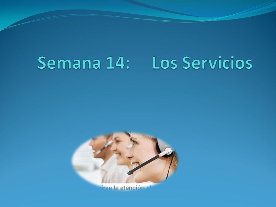 Semana 14: Los Servicios