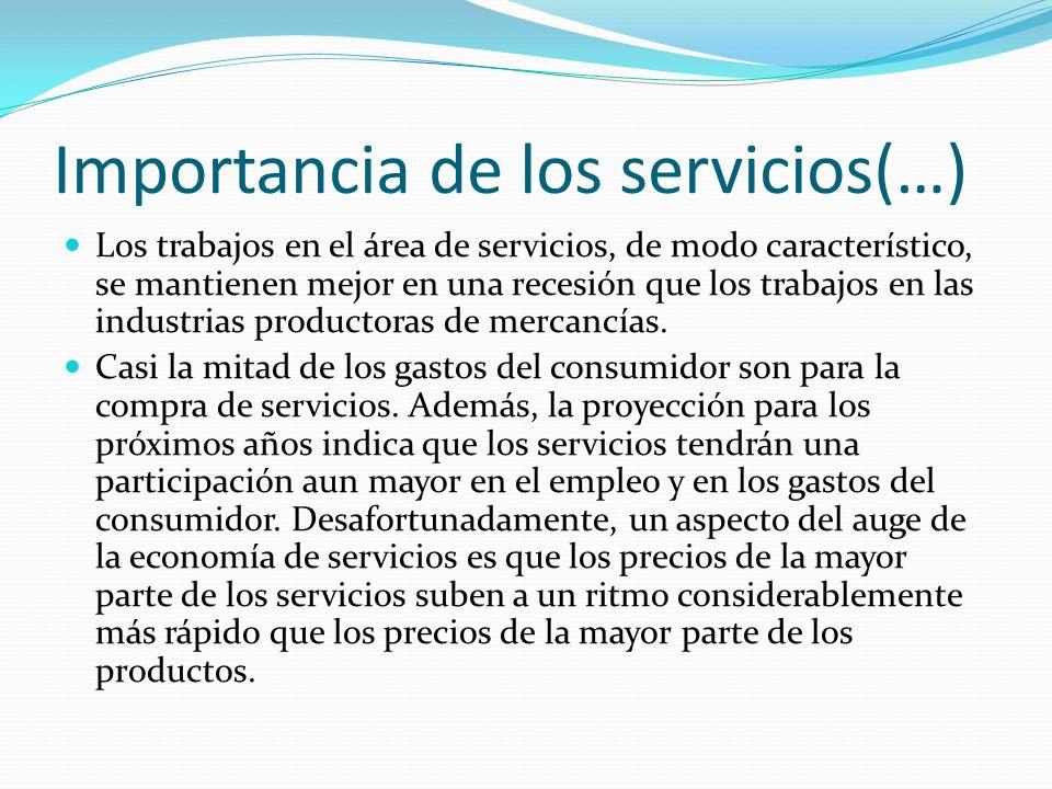 Importancia de los servicios(…)