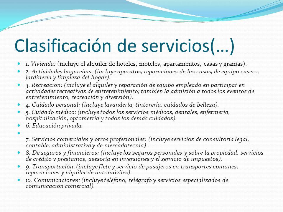Clasificación de servicios(…)