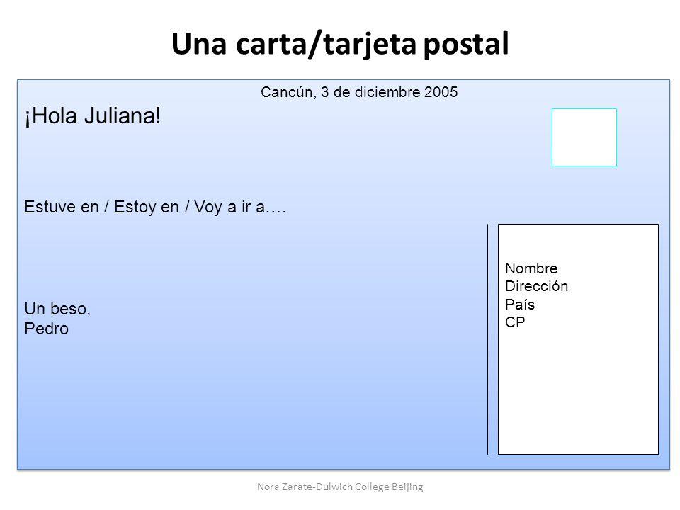 Una carta/tarjeta postal