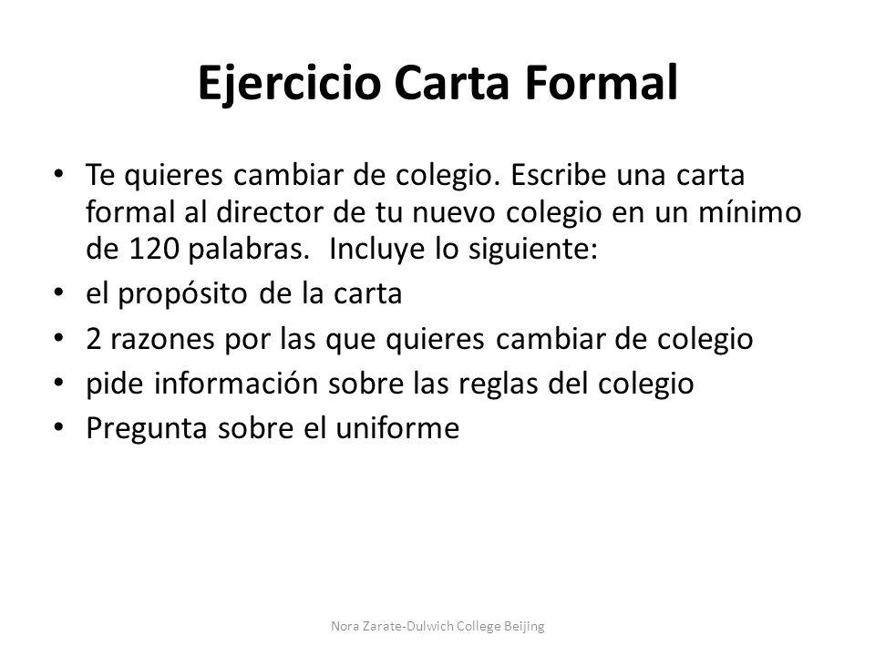 Ejercicio Carta Formal