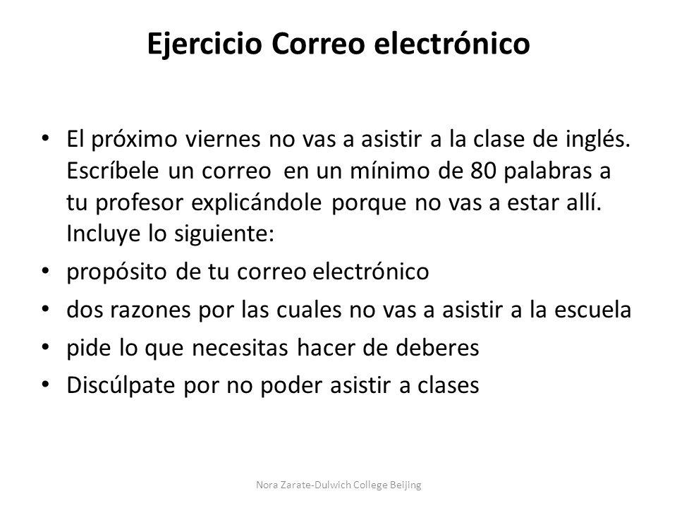 Ejercicio Correo electrónico
