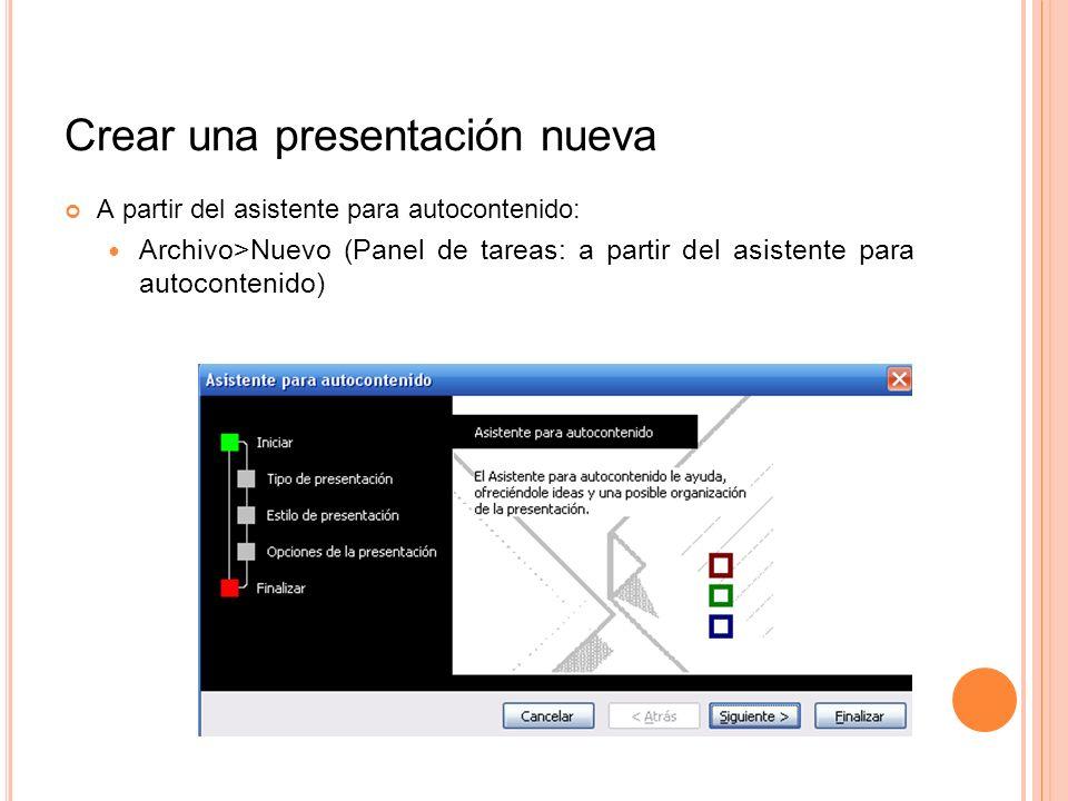 Crear una presentación nueva