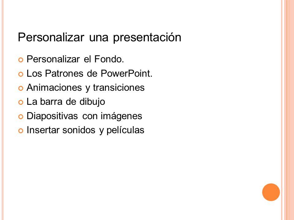 Personalizar una presentación