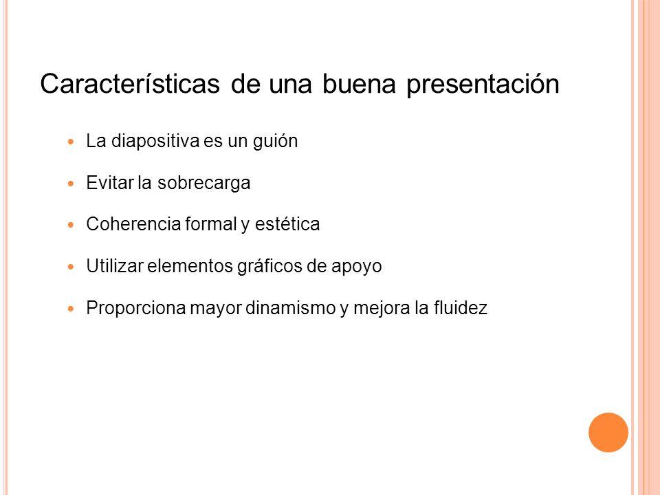 Características de una buena presentación