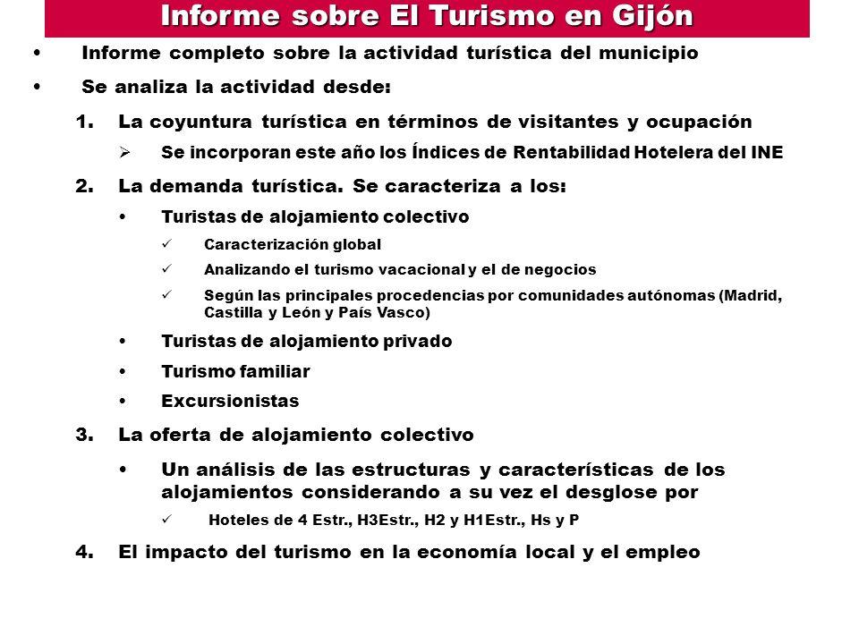 Informe sobre El Turismo en Gijón