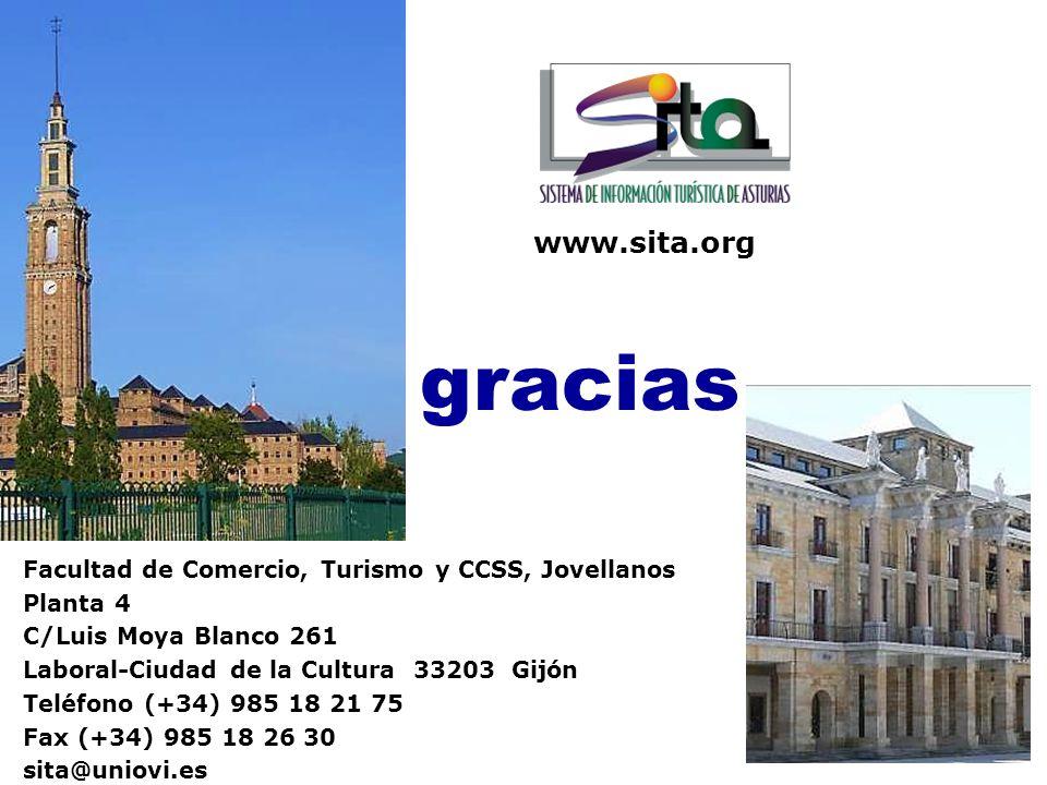 gracias www.sita.org Facultad de Comercio, Turismo y CCSS, Jovellanos