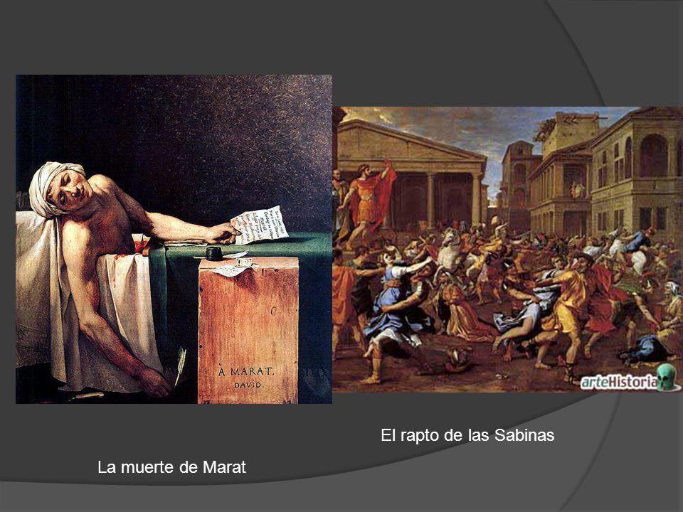 El rapto de las Sabinas La muerte de Marat