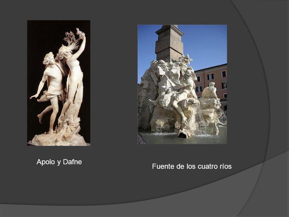 Apolo y Dafne Fuente de los cuatro ríos