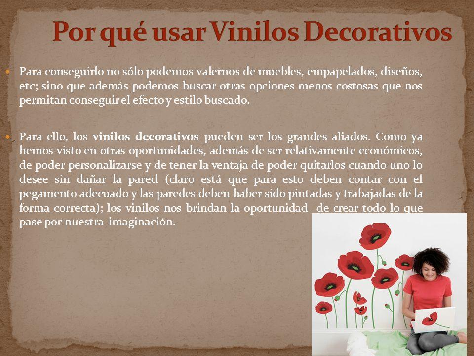 Por qué usar Vinilos Decorativos
