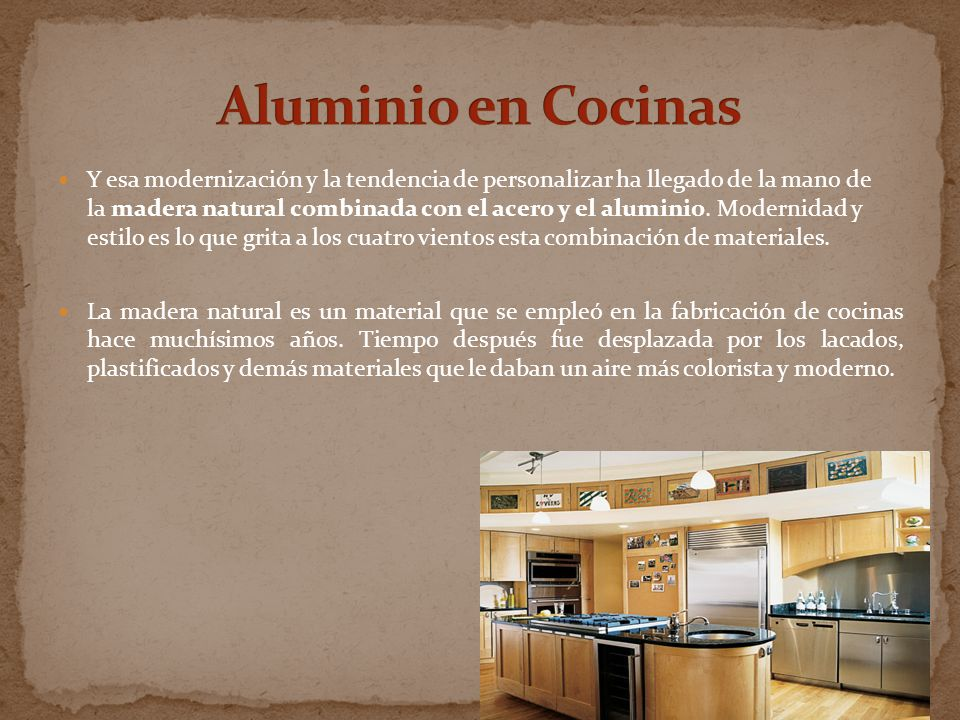 Aluminio en Cocinas