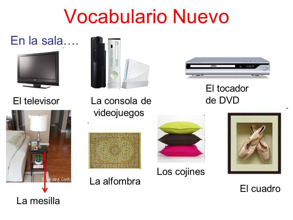 Vocabulario Nuevo En la sala…. El tocador de DVD El televisor