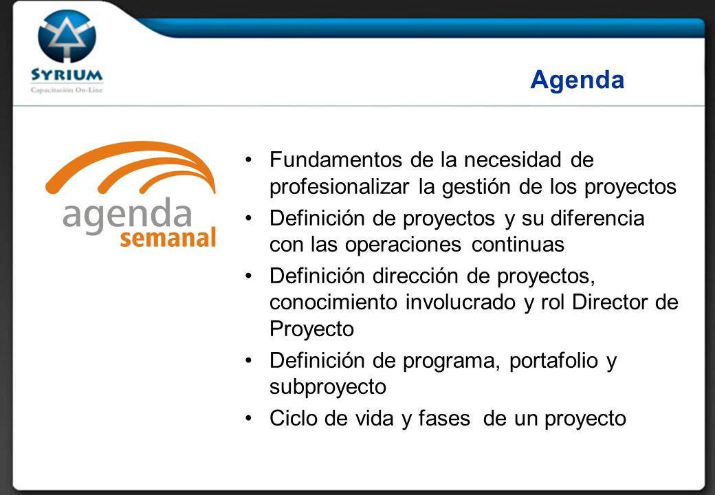 Rosario Morelli, PMP 29/03/2017. Agenda. Fundamentos de la necesidad de profesionalizar la gestión de los proyectos.