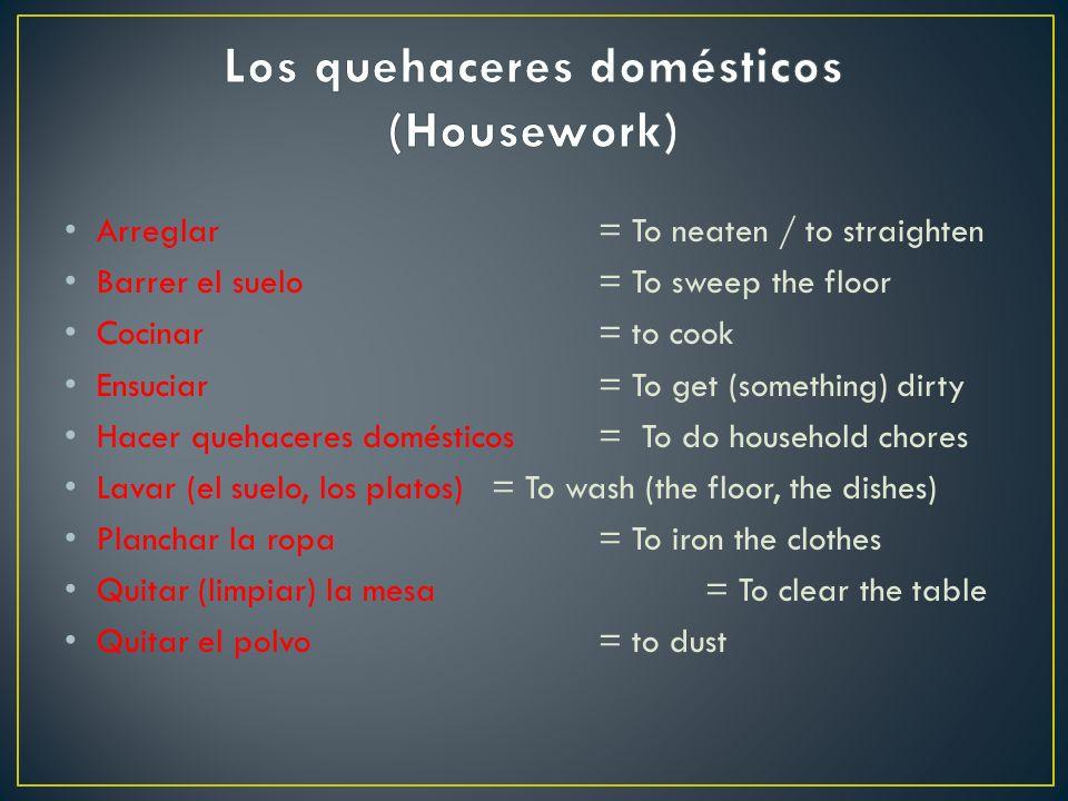 Los quehaceres domésticos (Housework)