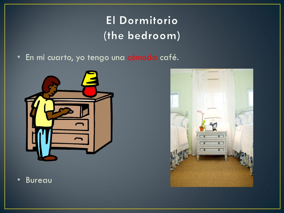 El Dormitorio (the bedroom)