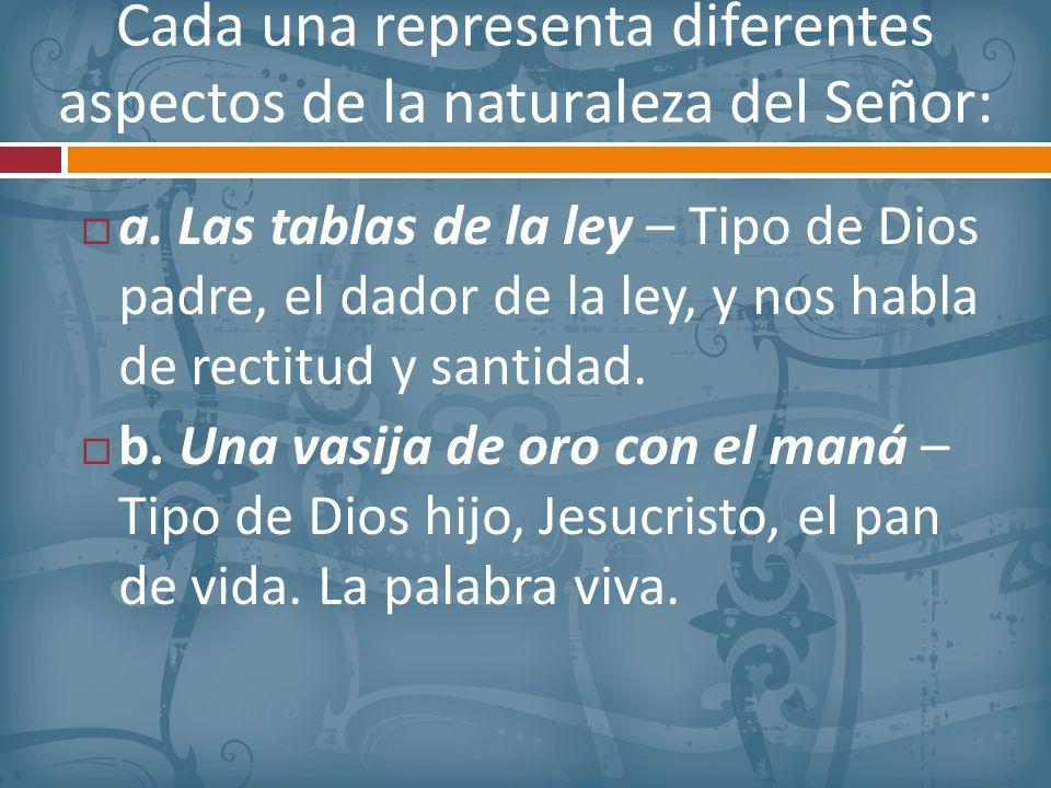 Cada una representa diferentes aspectos de la naturaleza del Señor: