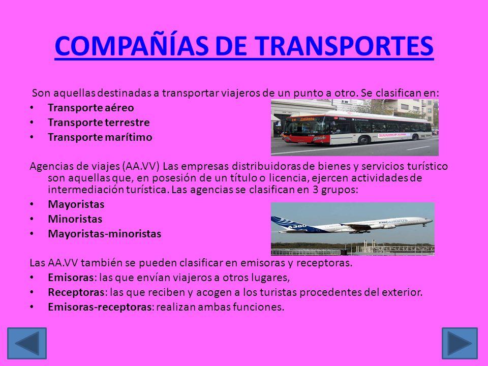COMPAÑÍAS DE TRANSPORTES