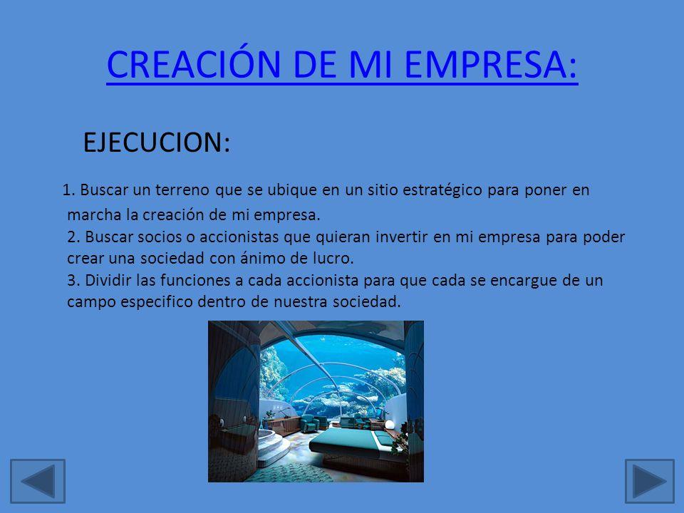 CREACIÓN DE MI EMPRESA:
