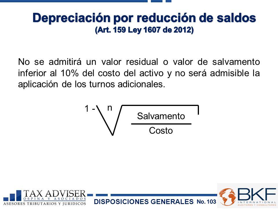 Depreciación por reducción de saldos