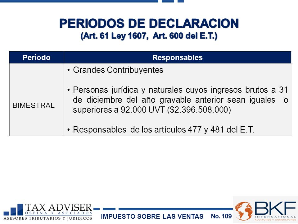 PERIODOS DE DECLARACION