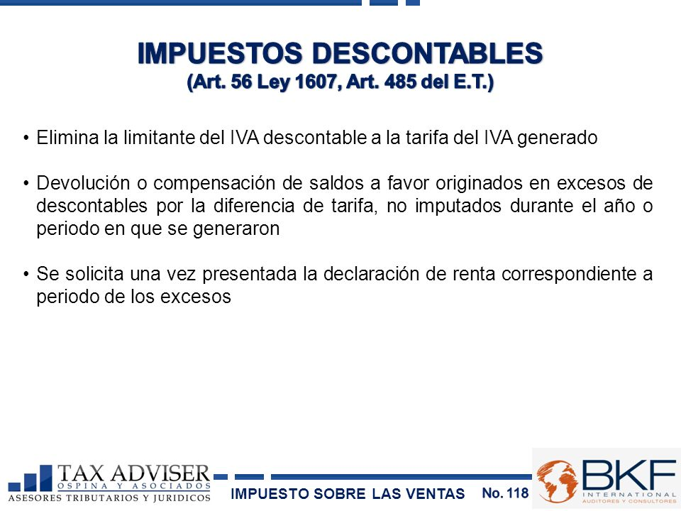 IMPUESTOS DESCONTABLES
