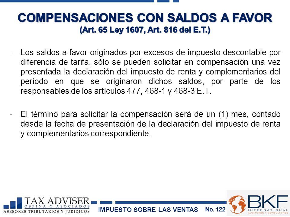 COMPENSACIONES CON SALDOS A FAVOR