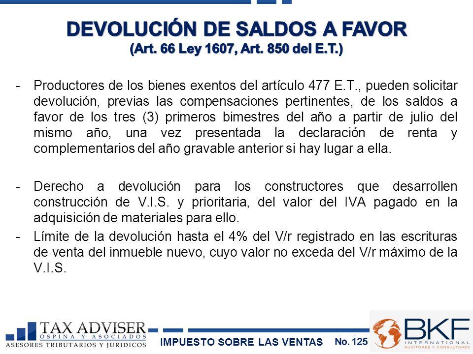 DEVOLUCIÓN DE SALDOS A FAVOR
