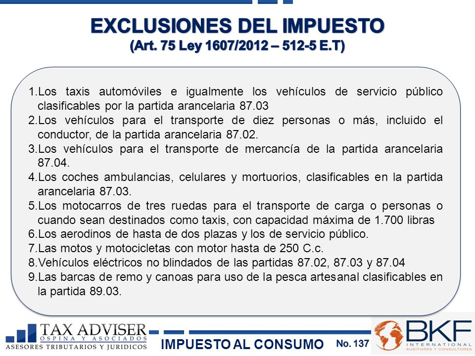 EXCLUSIONES DEL IMPUESTO