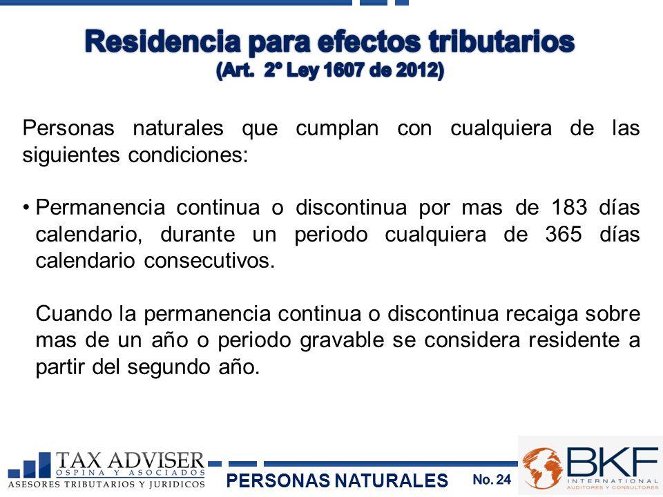 Residencia para efectos tributarios