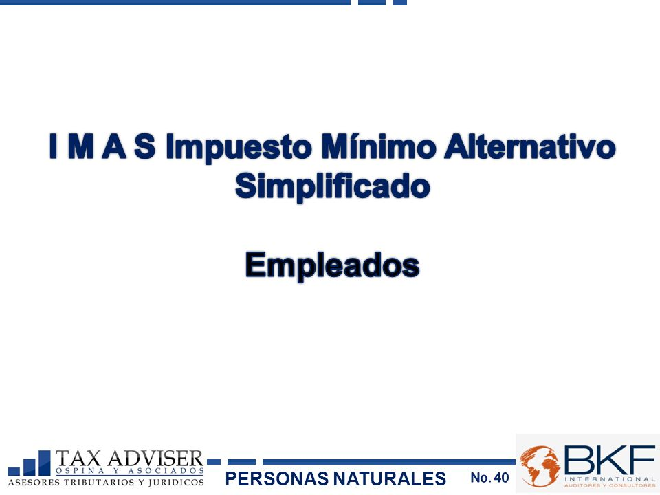 I M A S Impuesto Mínimo Alternativo Simplificado