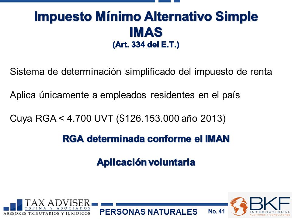Impuesto Mínimo Alternativo Simple IMAS