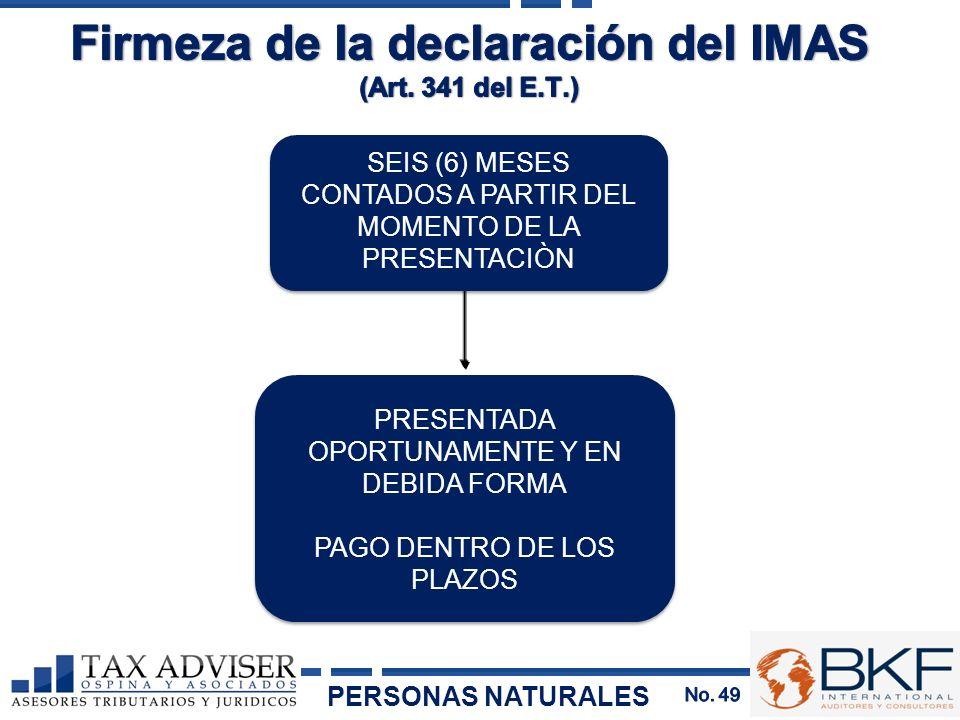Firmeza de la declaración del IMAS