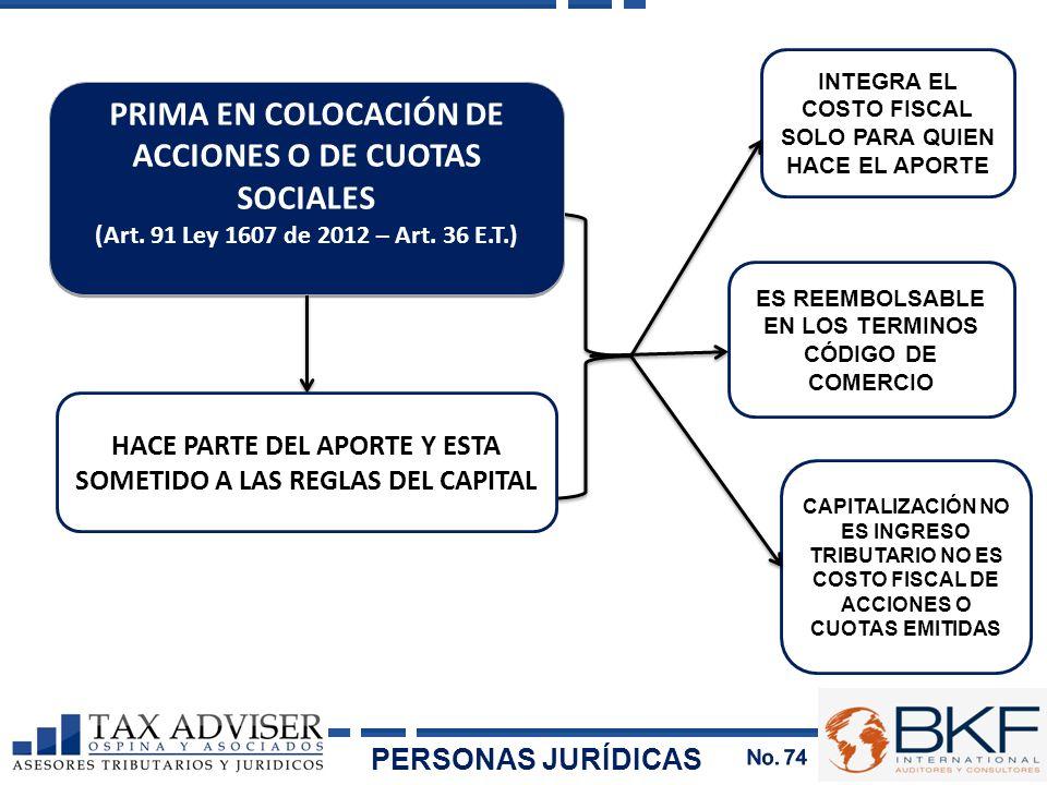 PRIMA EN COLOCACIÓN DE ACCIONES O DE CUOTAS SOCIALES