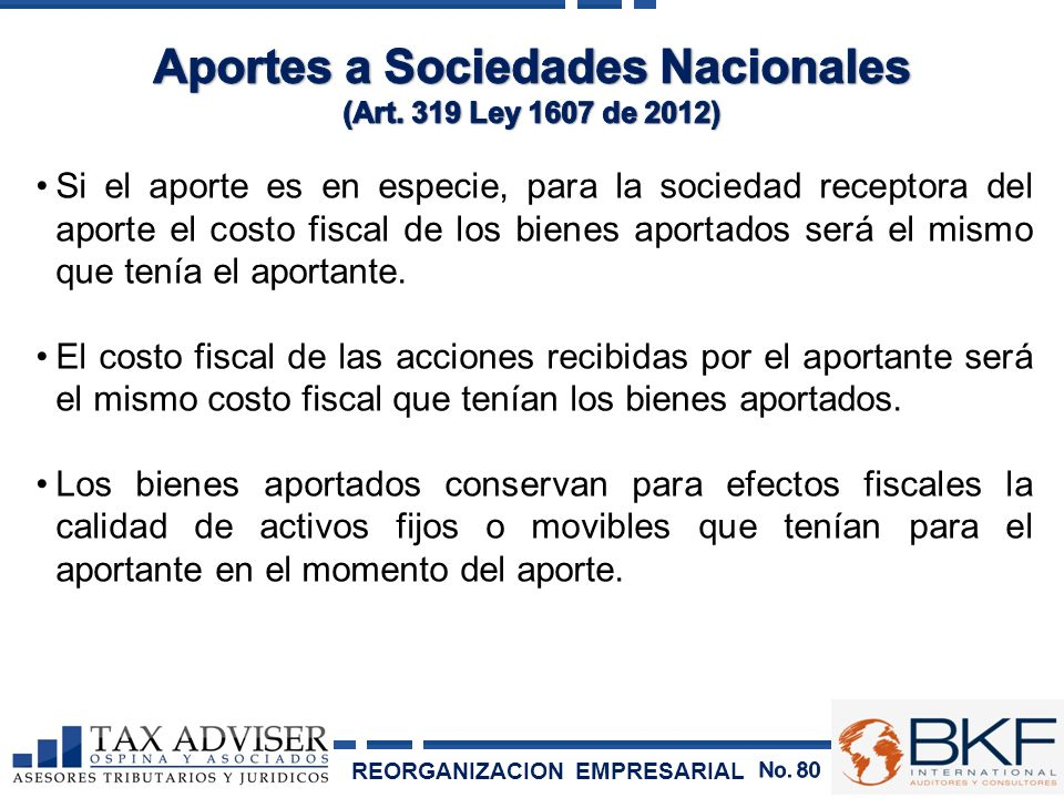 Aportes a Sociedades Nacionales