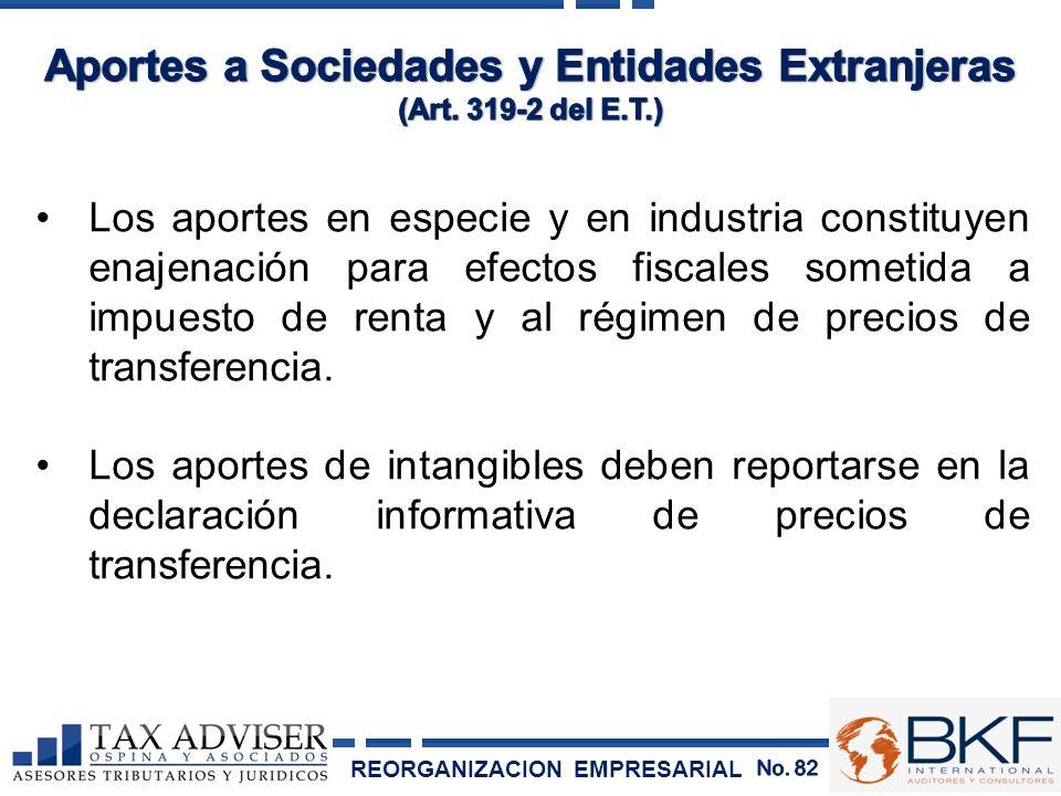 Aportes a Sociedades y Entidades Extranjeras
