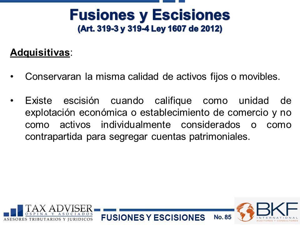 Fusiones y Escisiones Adquisitivas: