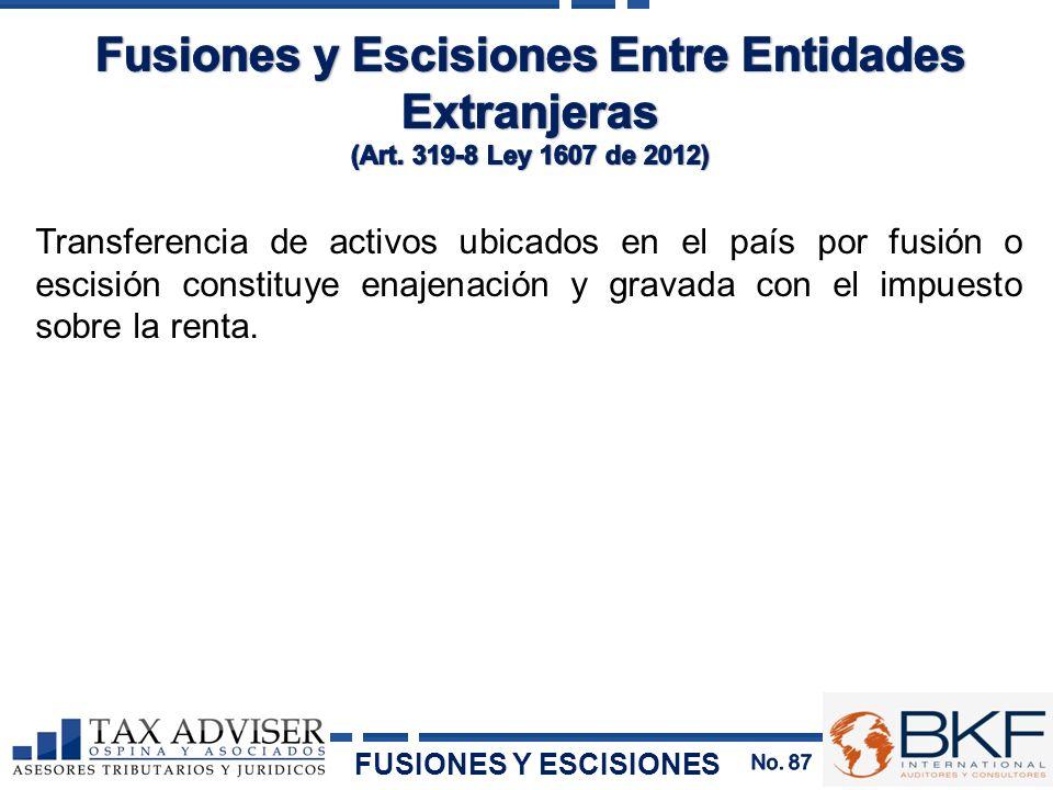Fusiones y Escisiones Entre Entidades Extranjeras