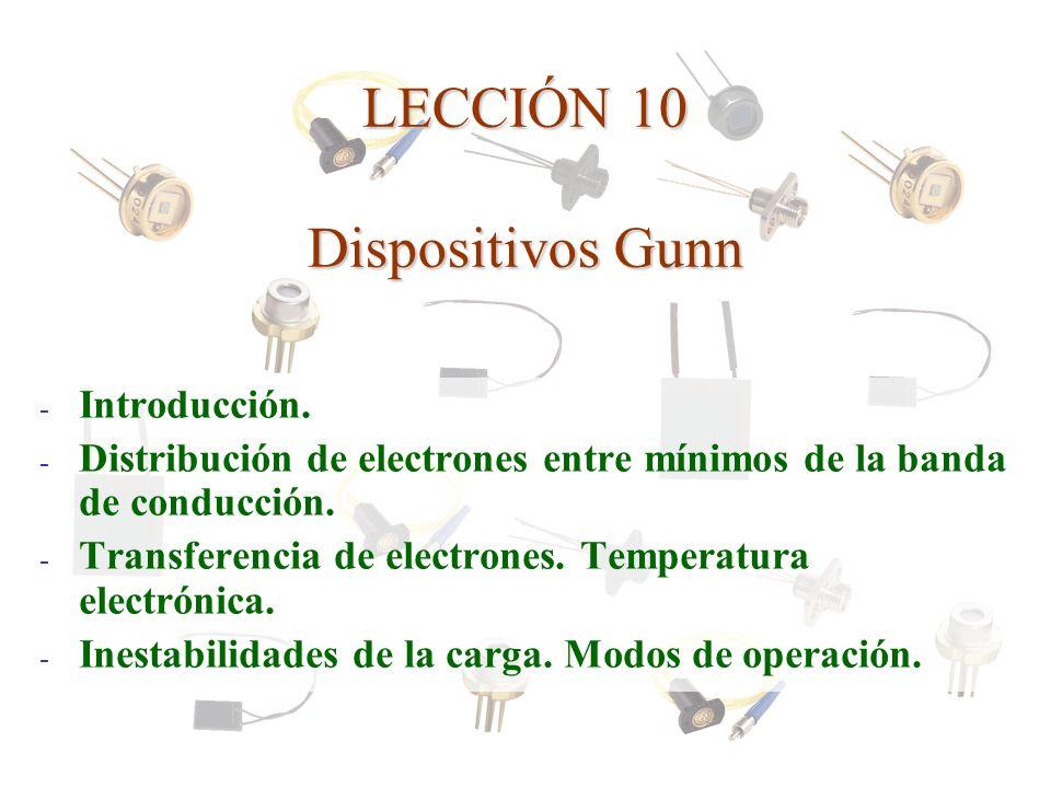 LECCIÓN 10 Dispositivos Gunn