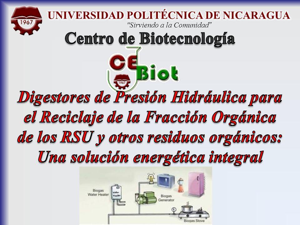 UNIVERSIDAD POLITÉCNICA DE NICARAGUA Centro de Biotecnología