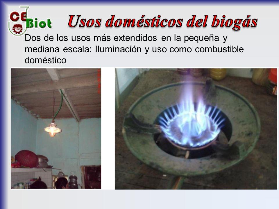 Usos domésticos del biogás