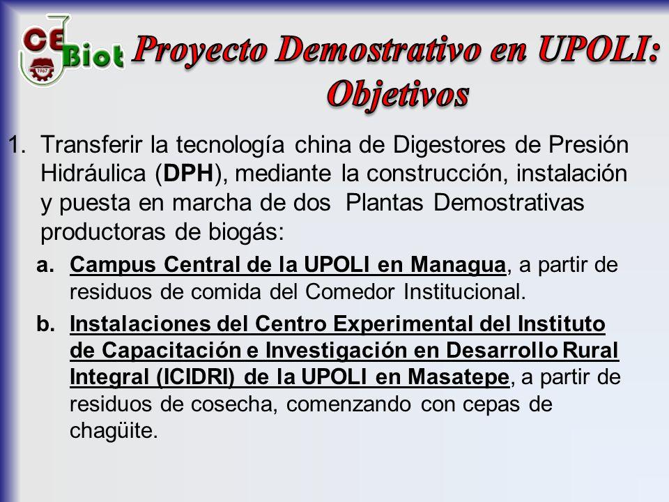 Proyecto Demostrativo en UPOLI: