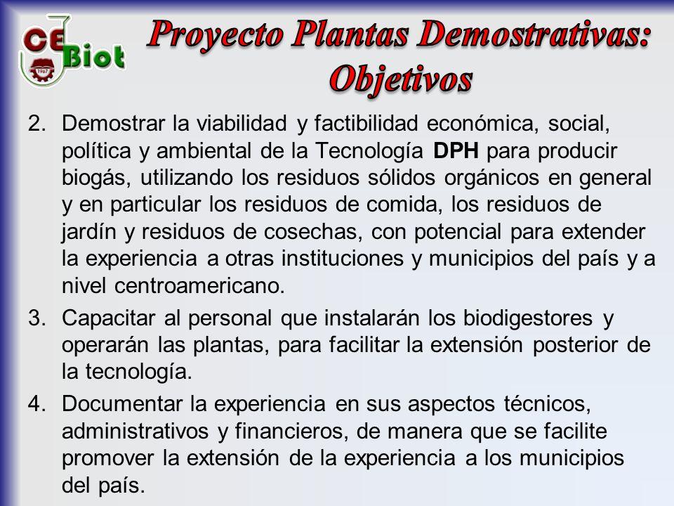Proyecto Plantas Demostrativas: