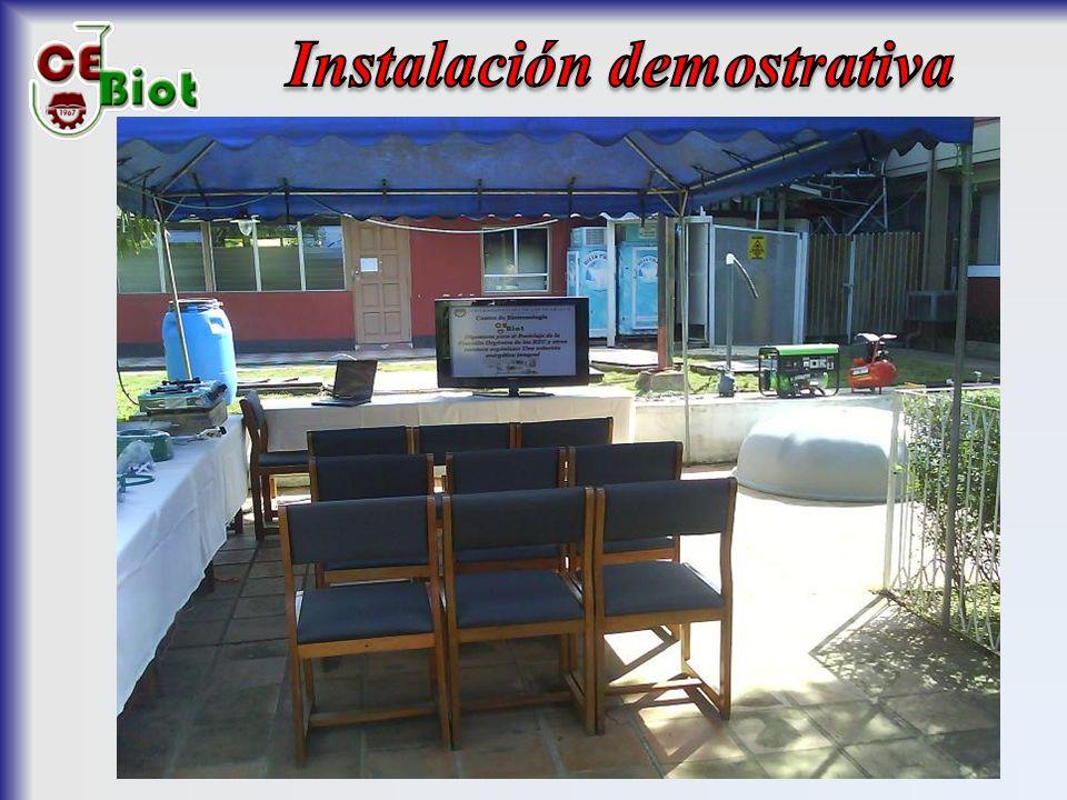 Instalación demostrativa